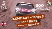 Stage 3 Summary - Car/Bike - (San Miguel de Tucumán / San Salvador de Jujuy) - Dakar 2017