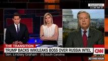 Senator Lindsey Graham Dismayed By Trump's Tweeting Of Julian Assange Quotes