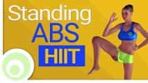 Standing ab workout   10 minute hiit abs exercises to lose belly fat