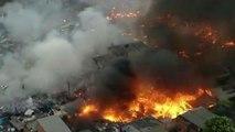 Incêndio atinge comunidade na zona leste de São Paulo