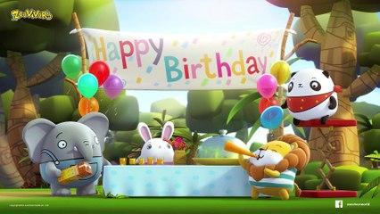 แฮปปี้ เบิร์ดเดย์ เพลงเด็ก - Happy Birthday | Zoovivor cartoon animation