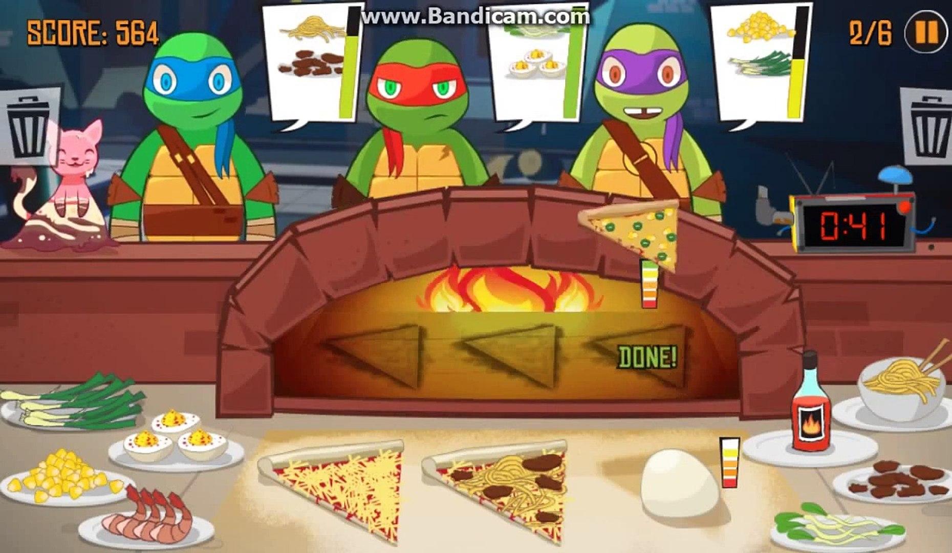 Черепашки Ниндзя. Игра для детей, готовим с ниндзя пицу.
