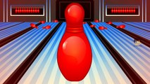 Learn colors with colors bowling game - Nursery children learn colors videos kids Learning Videos