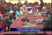 Comisión Lava Jato no descarta citar a Alejandro Toledo, Alan García y Ollanta Humala