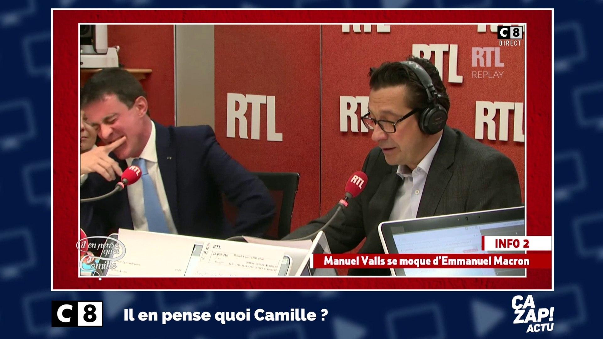 Le fou rire de Manuel Valls lorsque Laurent Gerra imite Emmanuel Macron