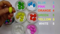 Fun Colorful Candies! Colors Learning with colorful candies and Kinder Surprise Toys