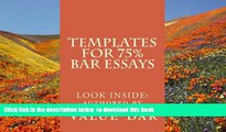Download [PDF]  Templates For 75% Bar Essays: Create  the 75% essay even on the fly Value Bar
