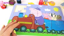 Peppa Pig English Episodes - New Compilation with Fun Wooden Puzzles Video - Peppa Pig Toys Video