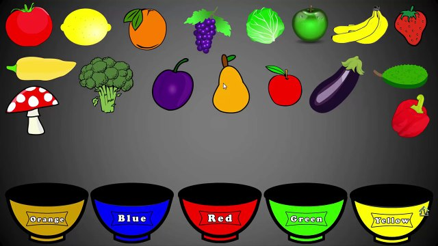 Fruits and Vegetables Colors, Color Sorting For Kids, Educational Video Kindergarten Preschool Game
