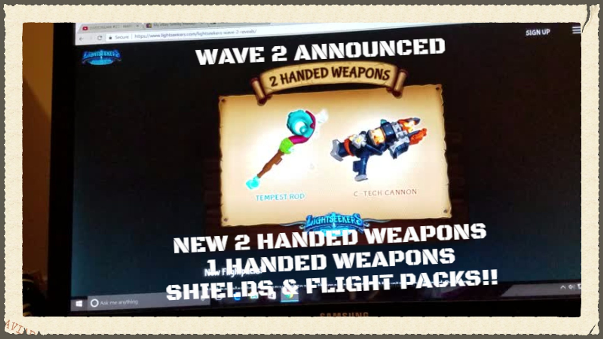 LIGHTSEEKERS New 2 Handed Weapons .. 1 Handed Weapons .. Shields .. & Flight Packs Revealed
