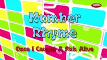Number Rhyme With Actions | Once I Caught A Fish Alive Rhyme | Nursery Rhymes For Kids With Actions