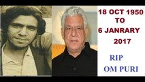 OM PURI DIED - OM PURI DEATH - RIP OM PURI - OM PURI DIED DUE TO HEART ATTACK