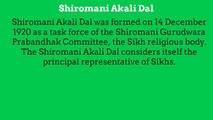 Shiromani Akali Dal considers itself the principal representative of Sikhs.