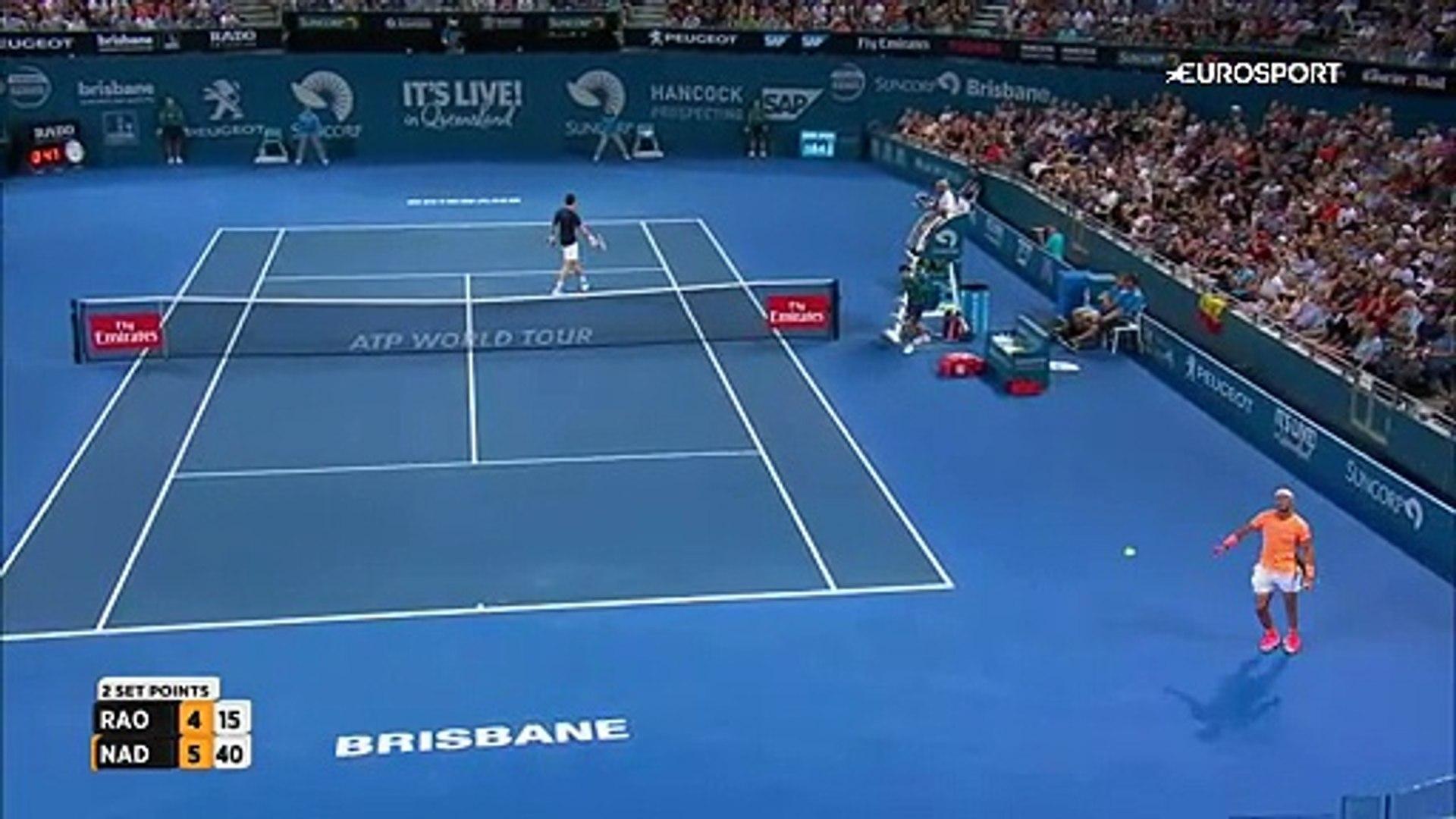 ATP Brisbane: Milos Raonic - Rafael Nadal (Özet)