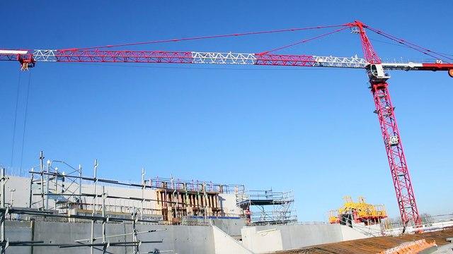 Chantier de construction de la Bordeaux Metropole Arena, à Floirac