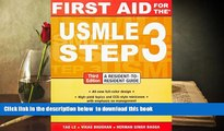 [PDF]  First Aid for the USMLE Step 3, Third Edition Tao Le For Ipad