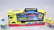 Pororo Car Carrier Tayo the Little Bus Garage Toy Surprise Eggs Learn Colors Numbers YouTube