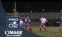 PRO D2, J16 – L'image du jour, l'interception de Maninoa (Stade Aurillacois Cantal Auvergne)