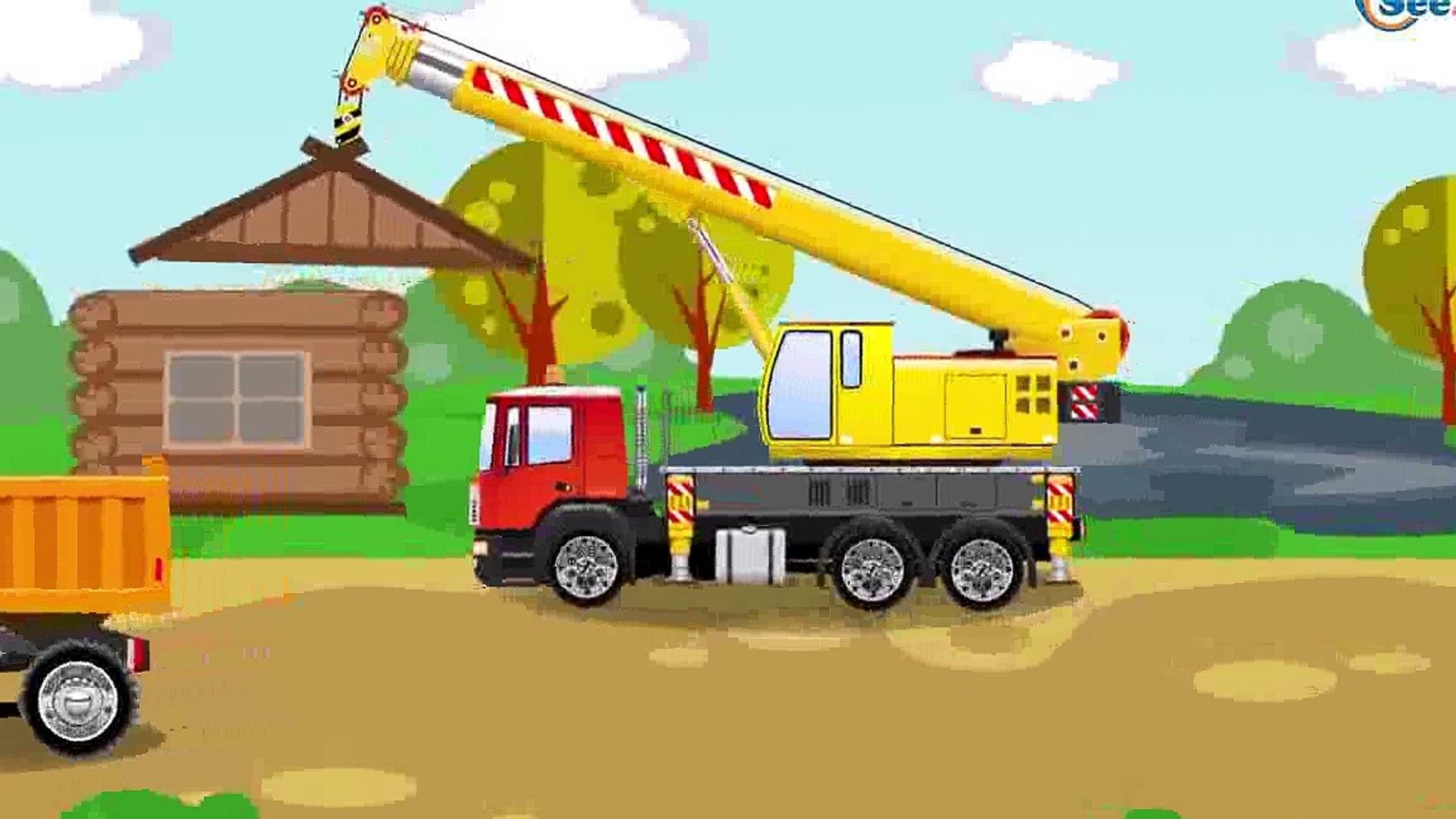 Der Grüner Traktor Und Der Bagger Die Große Autos Für Kinder Cartoon Für Kinder