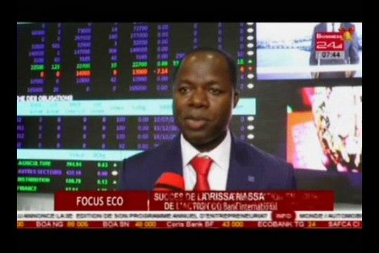 Focus Eco - Succès de la premiere cotation en bourse de l'action Coris Bank International