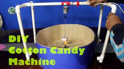 Homemade cotton candy machine