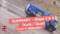 Stage 3 & 4 Summary - Quad/Truck - Dakar 2017