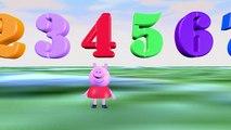 Peppa pig los numeros en espanol - videos infantil español - los números - aprender a contar