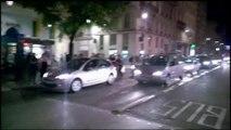 Scenes de liesse dans le centre de ville de Lyon apres la qualification des...