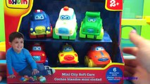 BRUIN Mini City Soft Cars boys car toys ambulance police car fire truck taxi