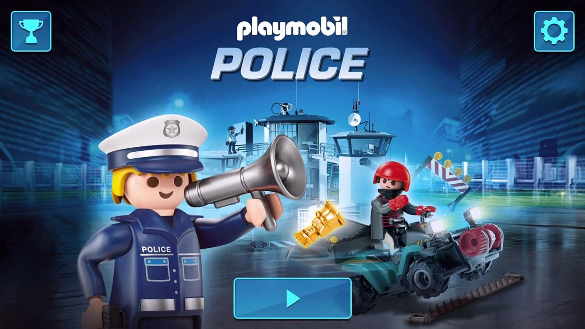 Playmobil Police Car// Police Bike// Police Helicopter// Policeman and Burglar