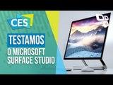 Testamos o Microsoft Surface Studio [CES 2017] - TecMundo
