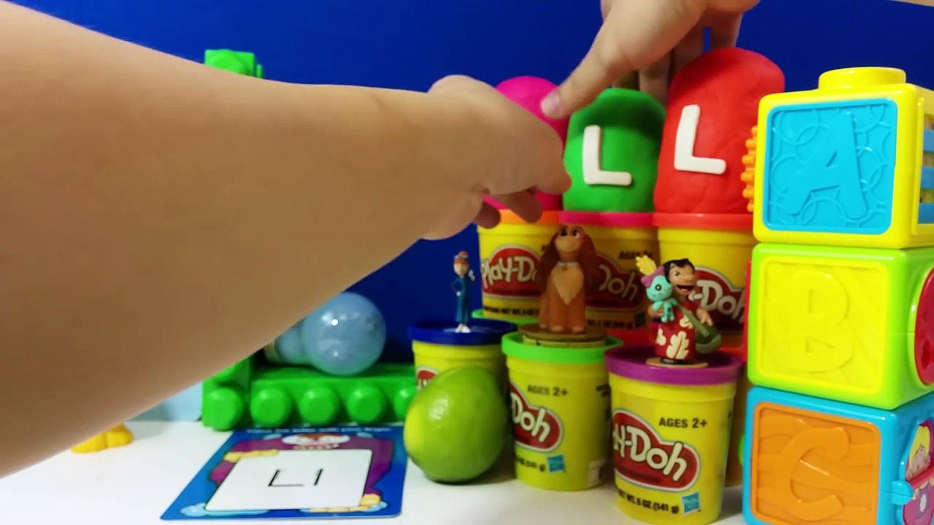 The Letter L with ABC Surprise Eggs - Luke Skywalker Lilo Lightning McQueen Lady Lapras