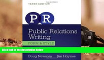 Read  Public Relations Writing: Form   Style (Wadsworth Series in Mass Communication and