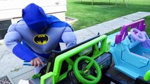 FUN Ride on Car Superhero Car Dance Power Wheels Carpool Batman Superman Comic Street Vehicles