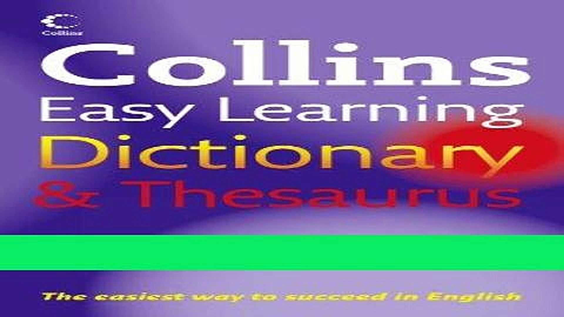 Collins Easy Learning Dictionary and Thesaurus Full Ebook