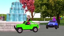 Frozen Elsa Pink SpiderGirl Mega Power Wheels Race | Joker Prank Gorilla Attacks Vs Spiderman