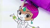 Shimmer in a Tutu Coloring Page! Fun Nickelodeon Shimmer and Shine Coloring Activity