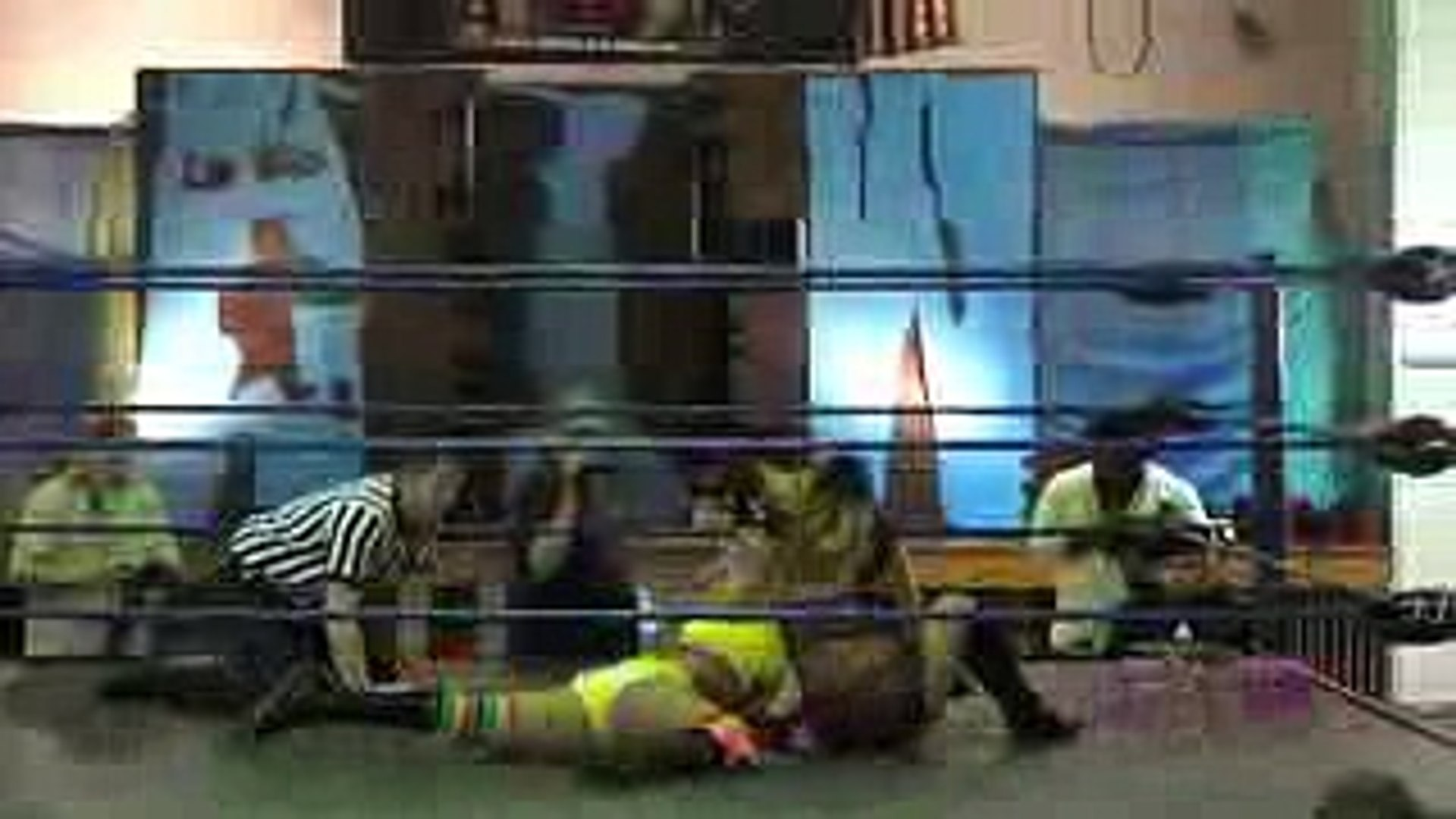 Jenny Rose VS. Mary Elizabeth Monroe - Absolute Intense Wrestling