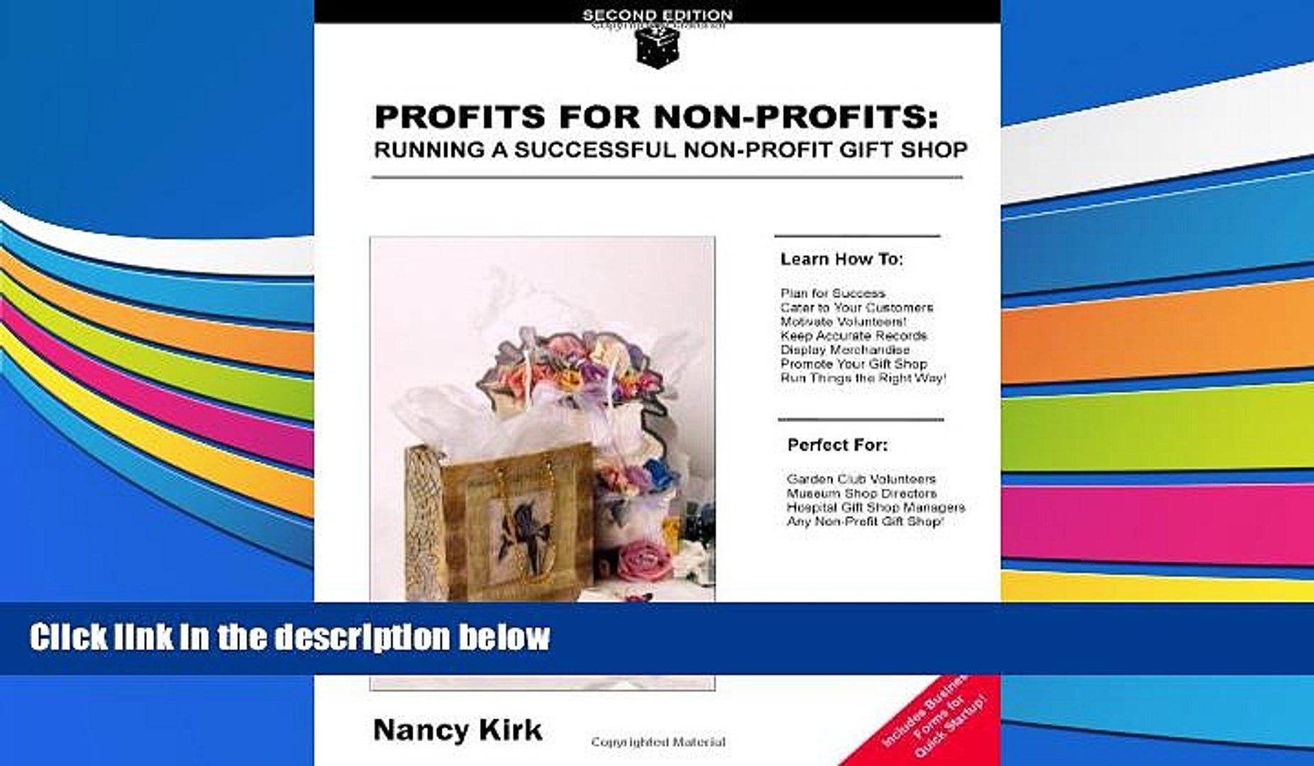 Read  Profits for Non-Profits: Running a Successful Non-Profit Gift Shop  Ebook READ Ebook