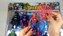 Marvel Superheroes Set Toys Opening Spiderman, Superman, Hulk & iron man Toys for Kids Videos