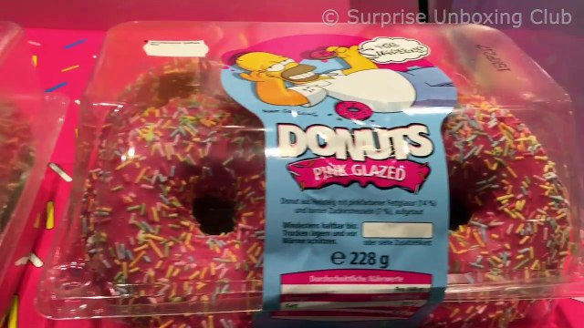 The Simpsons - Homers Original Donuts in Pink Glazed and Brown Chocolate