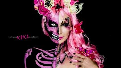 NYX face awards Serbia 2016 - Skull butterfly makeup tutorial