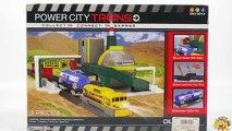 TRAINS FOR CHILDREN VIDEO: PowerTrains Bullet Train Set Toys Review + Crazy Little Men