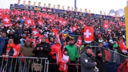 Réaction en image d'Alexis Pinturault après son incroyable victoire à Adelboden