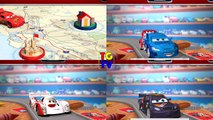 Disney Pixar Cars Lightning McQueen Raoul Shu Max 4 Screen Race _ Cars Daredevil Garage-pwkLtVebAL4