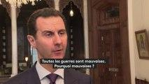 """DOCUMENT FRANCEINFO. Bachar Al-Assad : """"Toutes les guerres sont mauvaises, c'est parfois le prix à payer"""""""