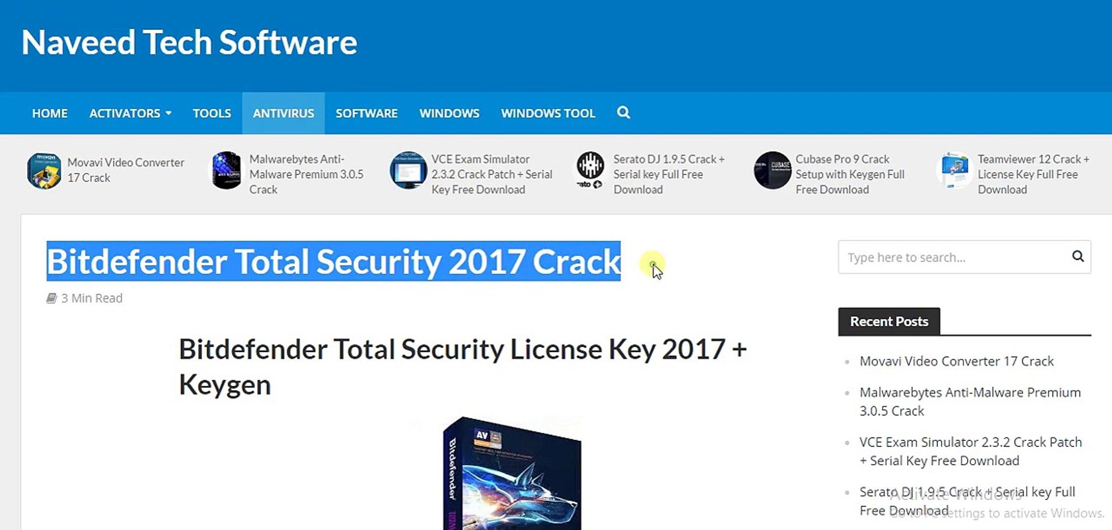 bitdefender total security license key