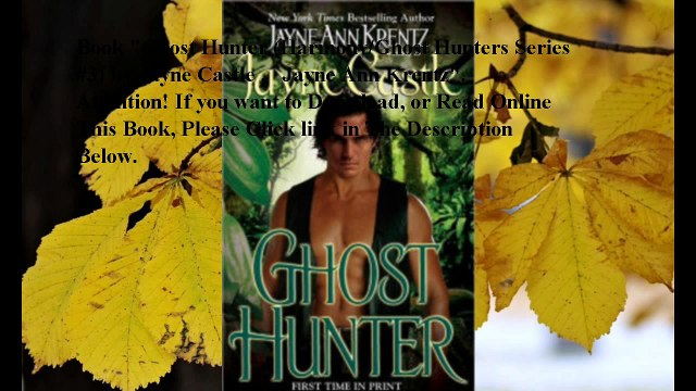 Download Ghost Hunter (Harmony/Ghost Hunters Series #3) ebook PDF