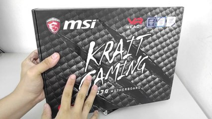 MSI Z270 Krait Gaming Motherboard Unboxing and Overview