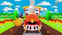 Le Train, Camion et Voiture de course - La Voiture Pour Enfants - Enfants Vidéo D'apprentissage